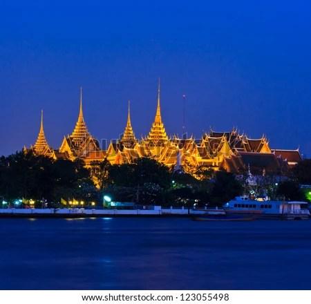 Wat Phra Kaew Royal Palace in Bangkok, Thailand - stock photo