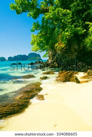 stock photo : Idyllic Place Scene under the Sun