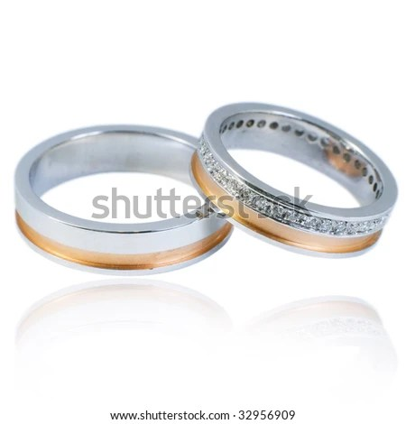 Room Decorating Ideas Stock Photo Golden Wedding Bands