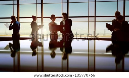 team of successful business people - stock photo