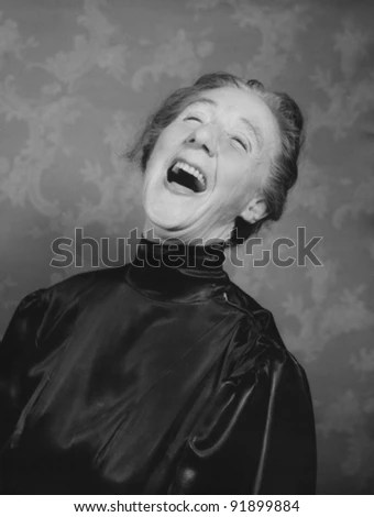 Woman laughting - stock photo