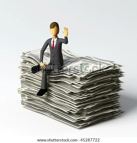 stock photo : Businessman do a concept of successful, finance business or a person with lots of money