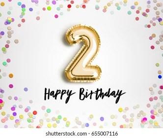 https www shutterstock com image illustration 2nd birthday celebration gold balloons colorful 655007116