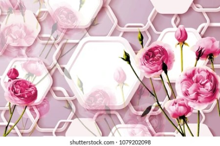 Wallpaper Images  Stock Photos   Vectors   Shutterstock 3d Floral abstract wallpaper for walls  3d rendering