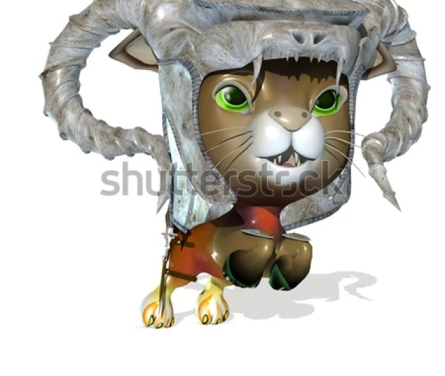 3d Rendered Knight Cute Fantasy Pet
