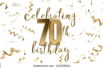 https www shutterstock com image illustration celebrating 70th birthday gold greeting card 1122378221