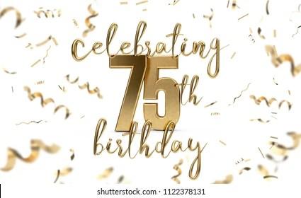 https www shutterstock com image illustration celebrating 75th birthday gold greeting card 1122378131