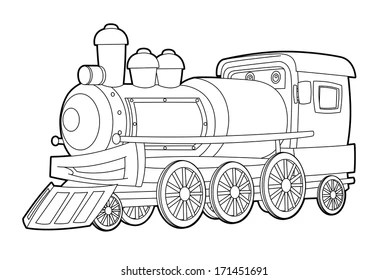 Train Coloring Pages Images Stock Photos Vectors Shutterstock