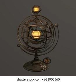 https www shutterstock com image illustration fantasy steampunk armillary sphere styled lamp 621908360