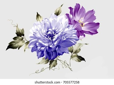Flower Painting Images Stock Photos Vectors Shutterstock