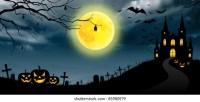 halloween christmas panorama banner