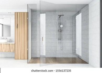 https www shutterstock com image illustration interior spacious bathroom white tile walls 1556137235