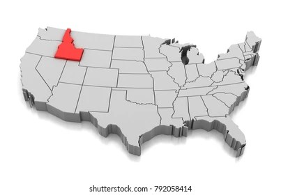 The map legend is sometimes called the map key. Idaho Map High Res Stock Images Shutterstock