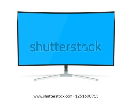 Modern Computer Monitor Mockup Isolated On Stock Illustration
