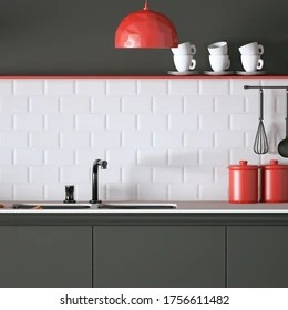 https www shutterstock com image illustration modern kitchen top minimal objects white 1756611482
