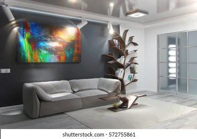 https www shutterstock com image illustration modern living room interior design 3d 572755861