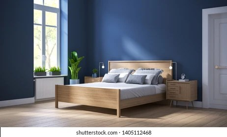 Dark Blue Bedroom Interior Design Images Stock Photos Vectors Shutterstock