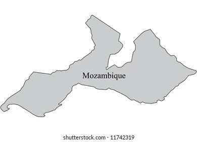 Mozambique Map Outline Map Mozambique Grey Stock Illustration     Mozambique Map   Outline map of Mozambique with grey fill and black outline