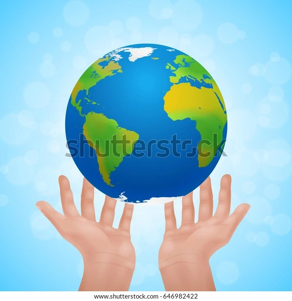 Save Earth Eco Poster Two Human Stock Illustration 646982422