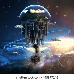 Science Fiction Images  Stock Photos   Vectors   Shutterstock Science fiction city with giant skyscrapers and flying spaceships 3d