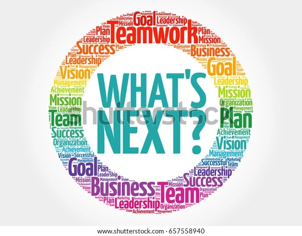 Whats Next Circle Word Cloud Business Stock Illustration 657558940