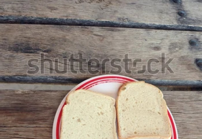 2 Slices Plain White Bread Served Stock Photo Edit Now 786038683