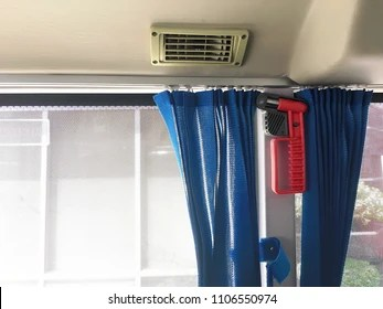 air conditioner vent duct curtain on
