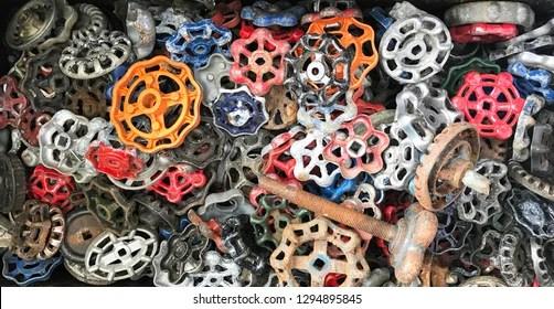 https www shutterstock com image photo antique faucet handles 1294895845