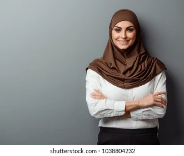 Arabian Woman With Happy Smile Strict Formal Outfit And Elegant Appearance Islamic Fashion