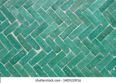 https www shutterstock com image photo arabic green herringbone tile pattern background 1405510916