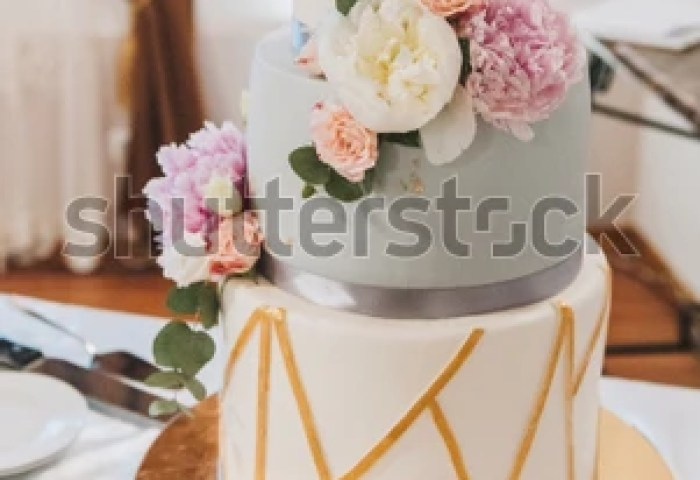 Beautiful Elegant Modern Three Tier Wedding Stock Photo Edit Now