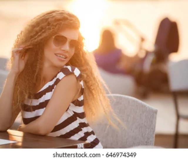 Beautiful Woman Outdoor Portrait Of Young Girl Healthy Hair And Clear Skin Summer