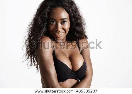 Black Woman With A Silicon Breast