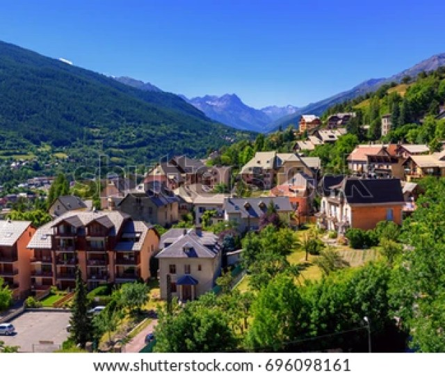 Briancon Town In Alpes Mountains Hautes Alpes Provence Is The Highest Town