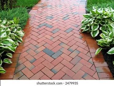 https www shutterstock com image photo brick sidewalk geometric pattern 2479935