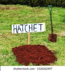 Bury the Hatchet Images, Stock Photos & Vectors   Shutterstock