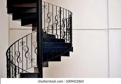 Iron Stairs Images Stock Photos Vectors Shutterstock   The Iron Shop Spiral Staircase   Stairs Built   Loft Staircase   Attic Loft   Staircase Ideas   White Spiral