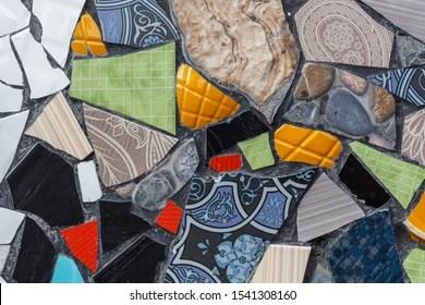 https www shutterstock com image photo colorful ceramic mosaic floor wall creative 1541308160