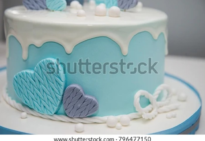 Colorful Decoration First Year Birthday Cake Stock Photo Edit Now