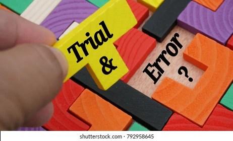 Trial and Error Images, Stock Photos & Vectors | Shutterstock