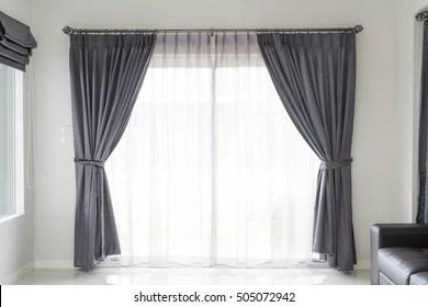 https www shutterstock com image photo curtain interior decoration living room sunlight 505072942
