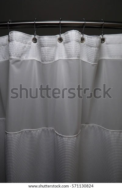 https www shutterstock com image photo curved shower curtain rod 571130824
