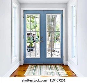 https www shutterstock com image photo double patio french doors windows exiting 110409251