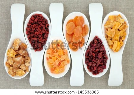 Dried Fruit White Porcelain Scoops Over Stock Photo (Edit Now) 145536385 - Shutterstock