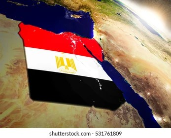 Egypt Map 3d Stock Illustrations  Images   Vectors   Shutterstock Egypt with embedded flag on planet surface during sunrise  3D illustration  with highly detailed realistic
