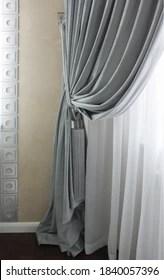 https www shutterstock com image photo fabric drapery tassel 1840057396