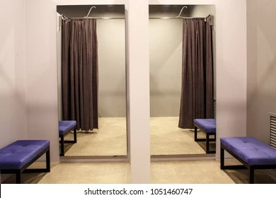 https www shutterstock com image photo fashion boutique interior fitting room 1051460747