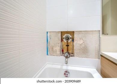 https www shutterstock com image photo faucet repair bathroom broken shower 203909689