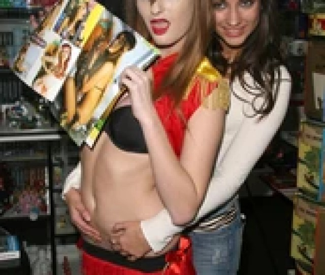 Faye Reagan And Georgia Jones At The Girls And Corpses Halloween Party And Autograph