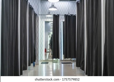 https www shutterstock com image photo fitting room mall store without people 1757579852